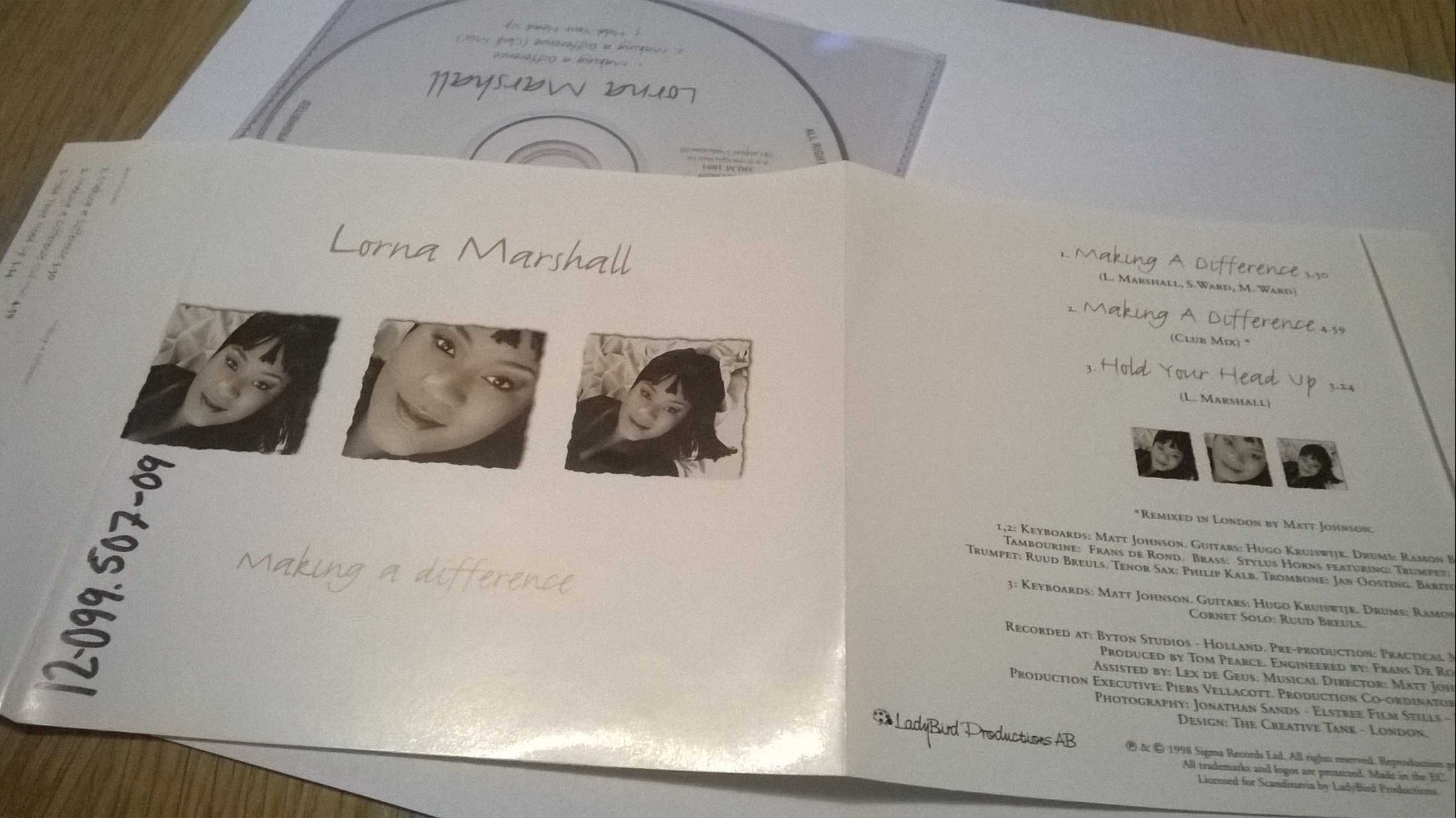 Lorna Marshall - Making A Difference, singel CD