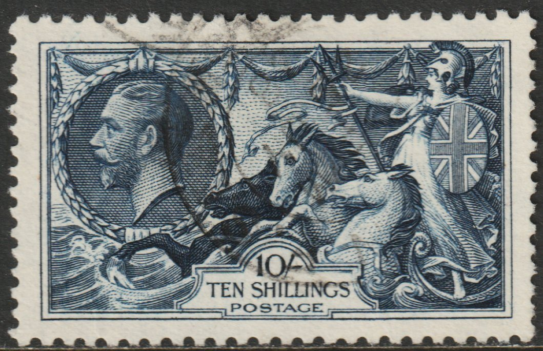 GB, SG452, 1934 Seahorse 10s, re-engraved, kat £80