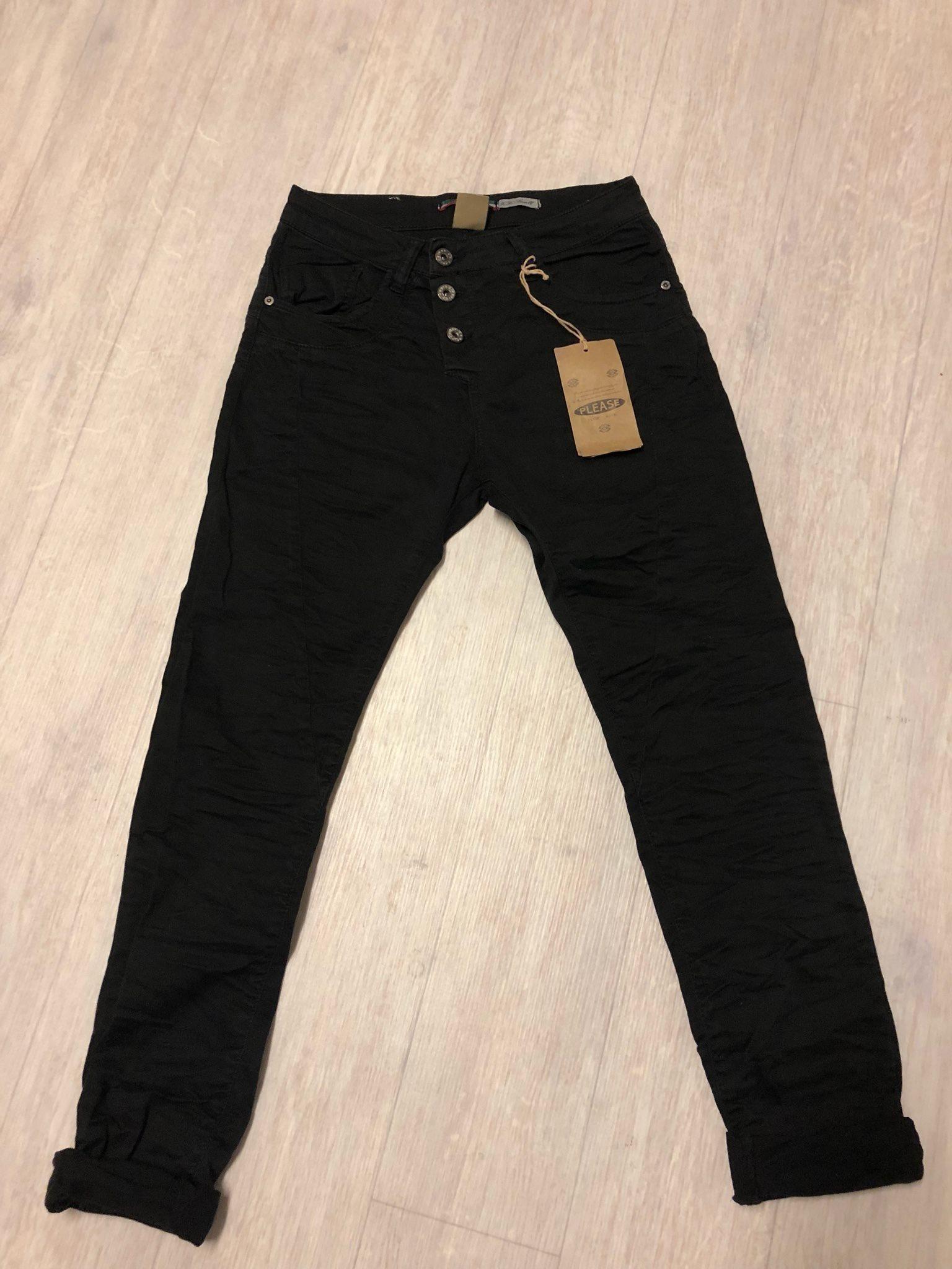 svarta baggy jeans