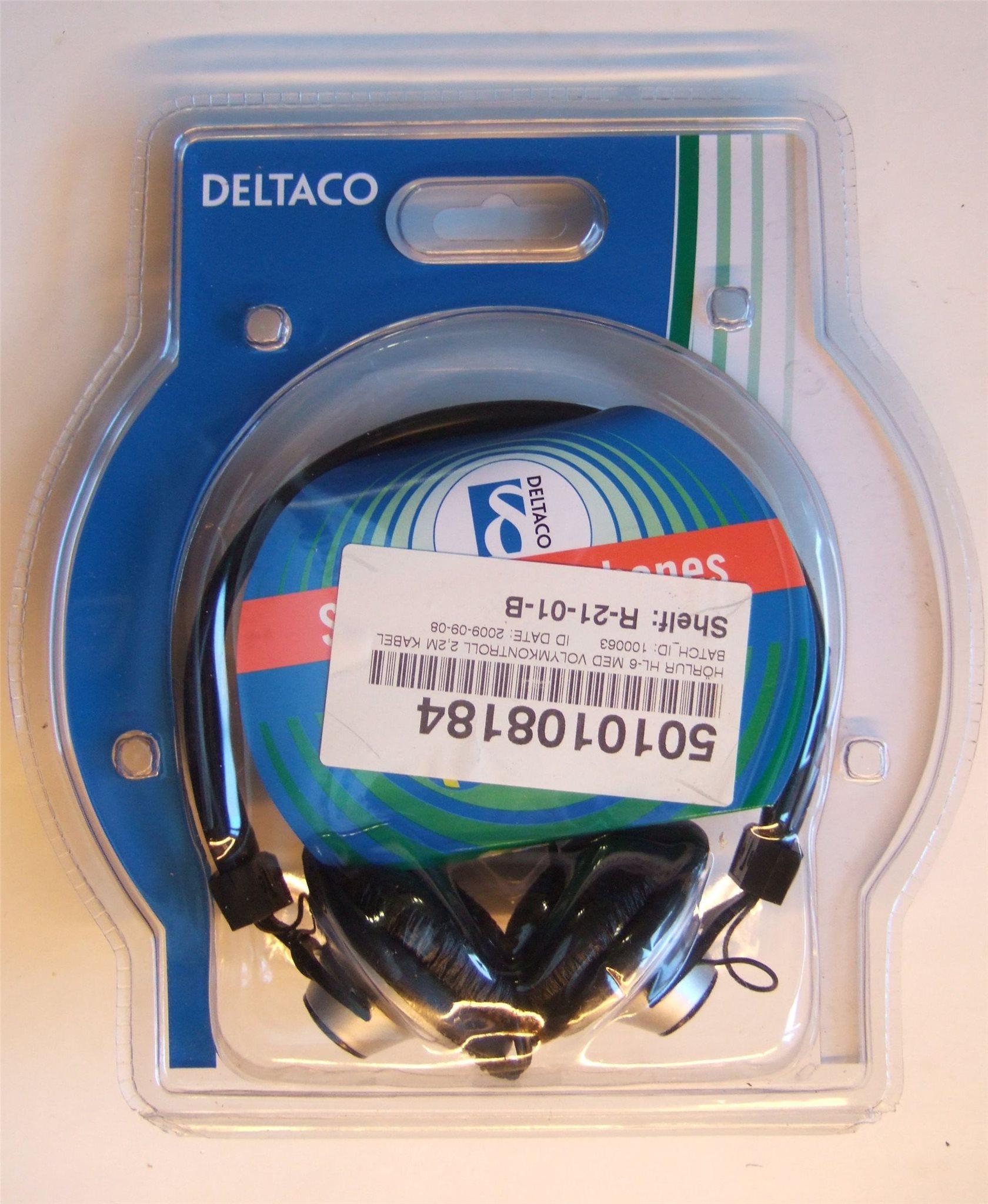 DELTACO Hörlurar i obruten förpackning (342610538) ᐈ Köp på Tradera e2eac1fbd6944