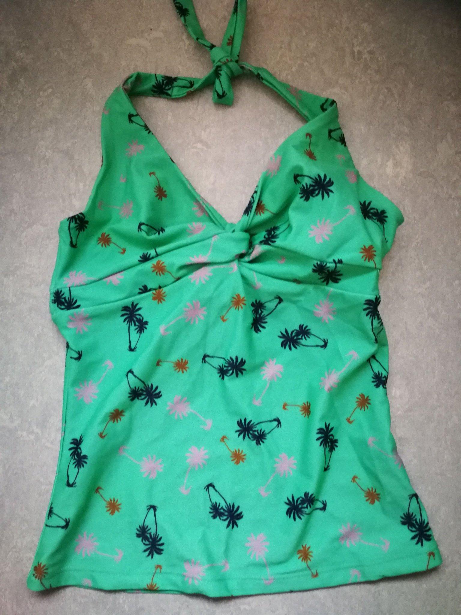0348efc429 Tankini Scampi stl M grön med palmer, överdel/l.. (351393918) ᐈ Köp ...