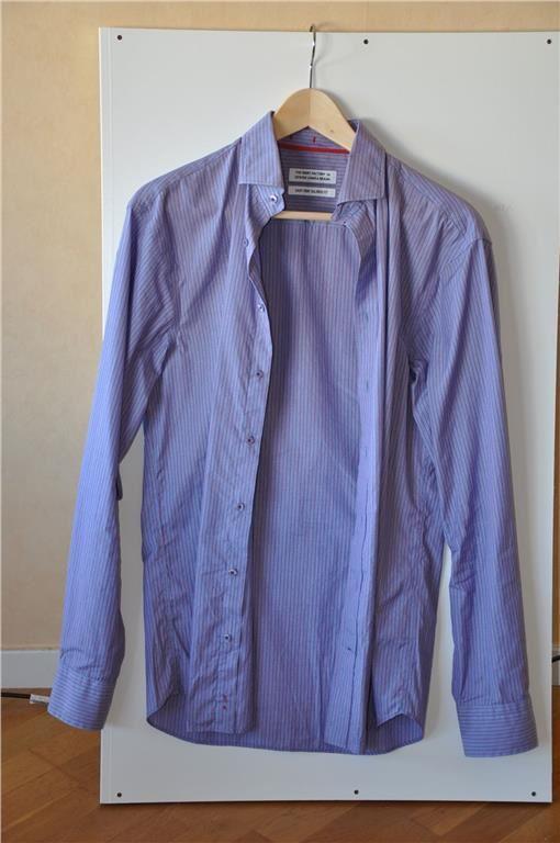 The Shirt Factory skjorta, stl. 38, lila och röd, randig