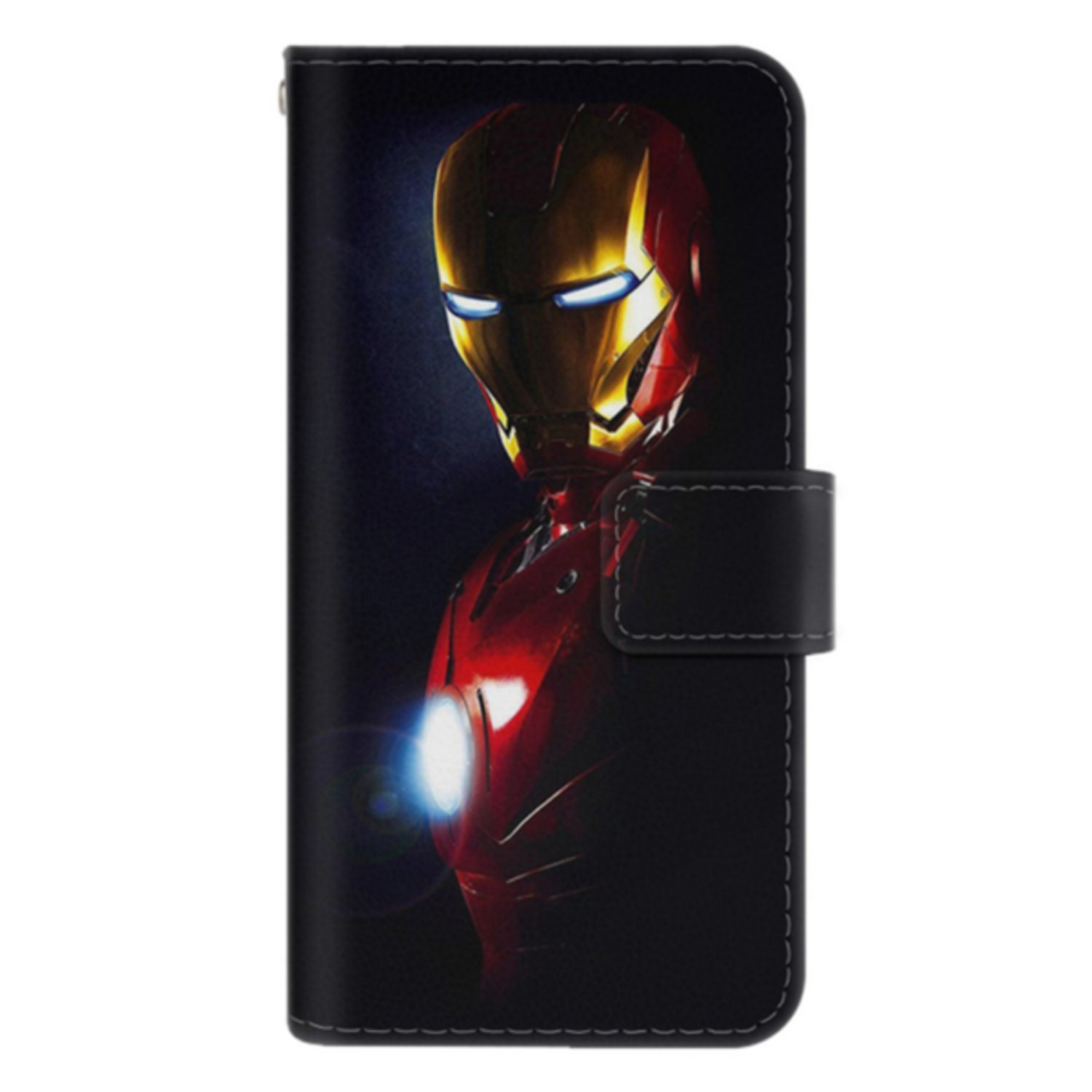 Samsung Galaxy S8 Plånboksfodral Glowing Iron Man