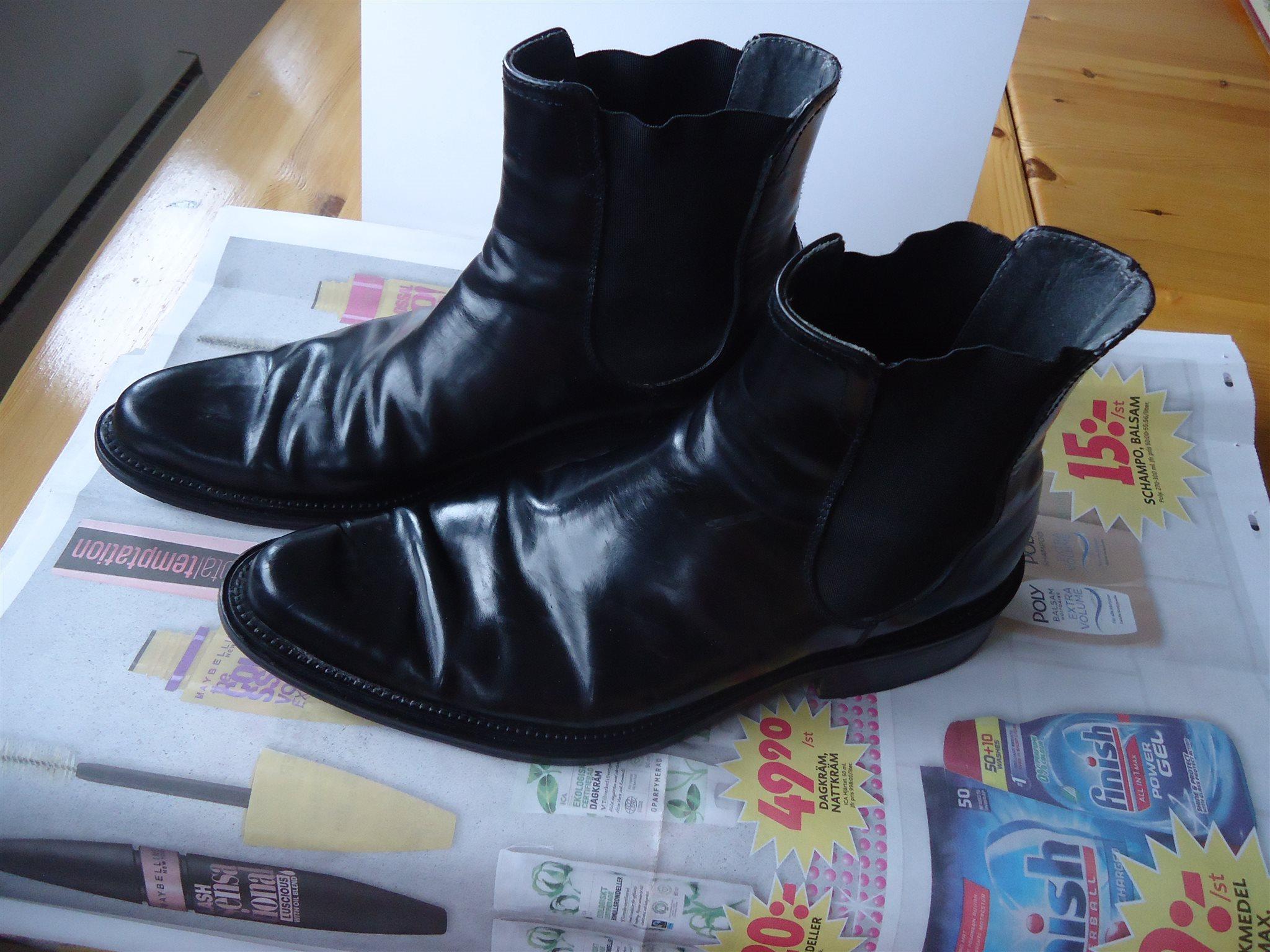 Svarta skor med spetsiga tå boots Made in Italy (334512913