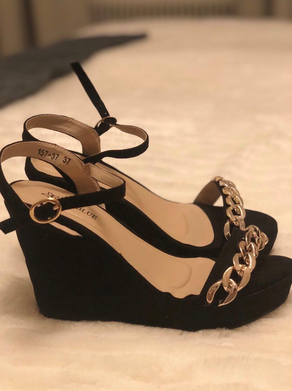 snygga skor med kilklack