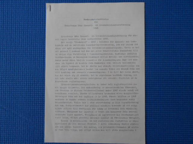 Verksamhetsberättelse Kronobergs Län speceri och Livsmedelshandlareförening 1948