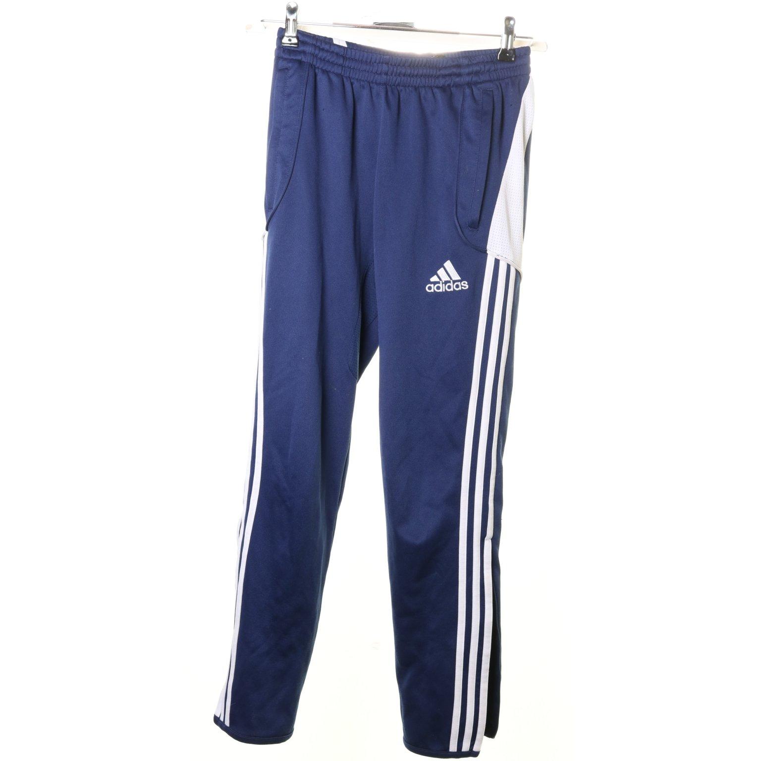 Adidas, Träningsbyxor, Strl: 164, BlåVit, Polyester