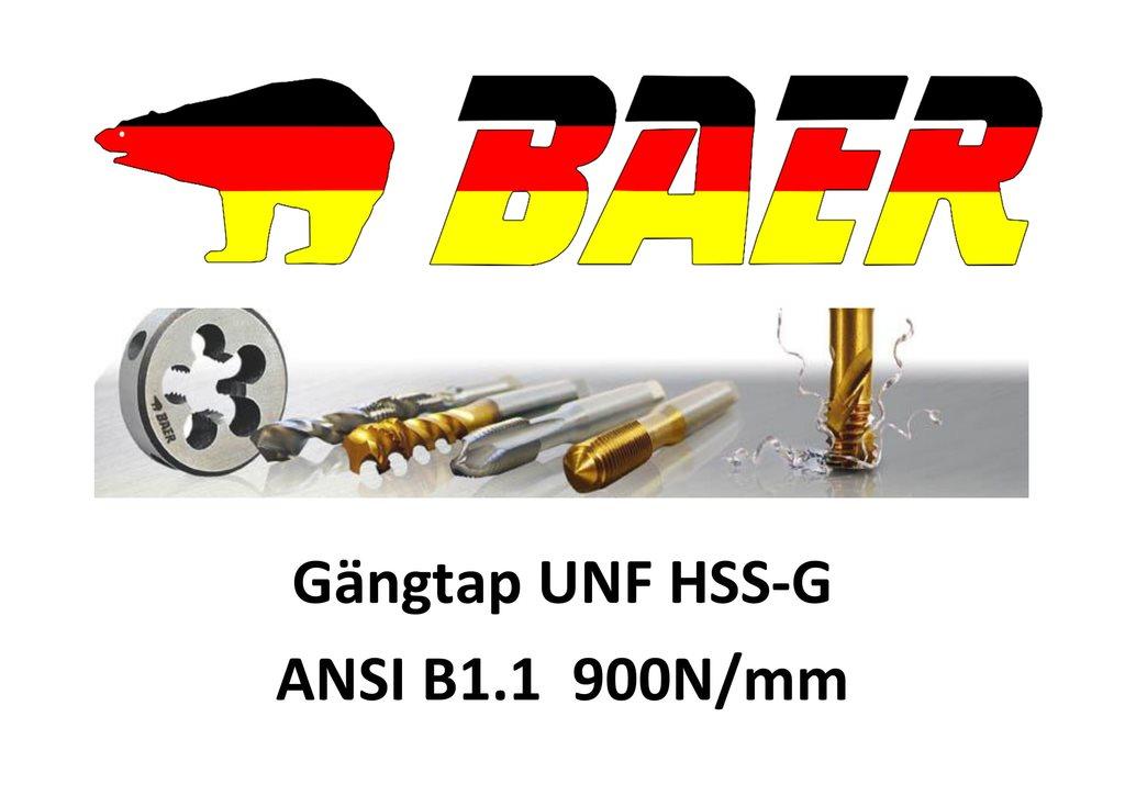 UNF. 4x 48 Gängtapp  HSS-G 900 N/mm ANSI B1.1