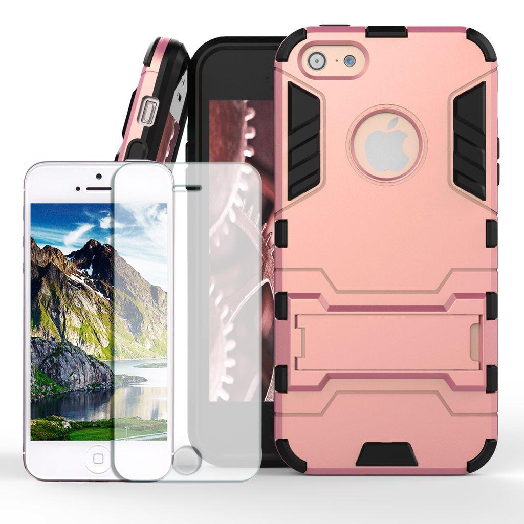 Skal+Skärmskydd till iPhone 5 5s SE Rosa Guld Space Armor Skydd Fodral  Kickstand 756572d6459d3