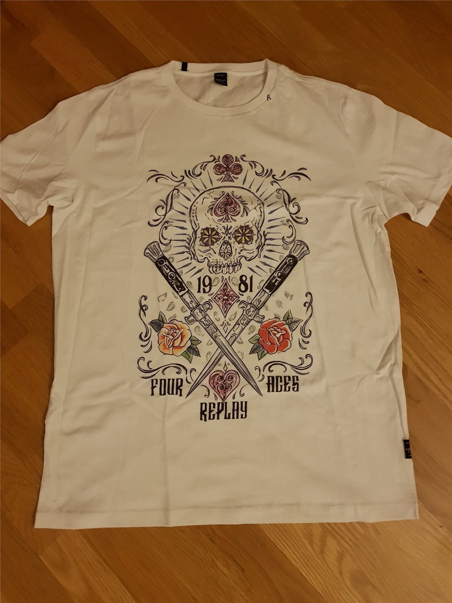 058b23712fc Ny Replay XS vit T-shirt, XS Replay (snabb leverans) 642f75 ...