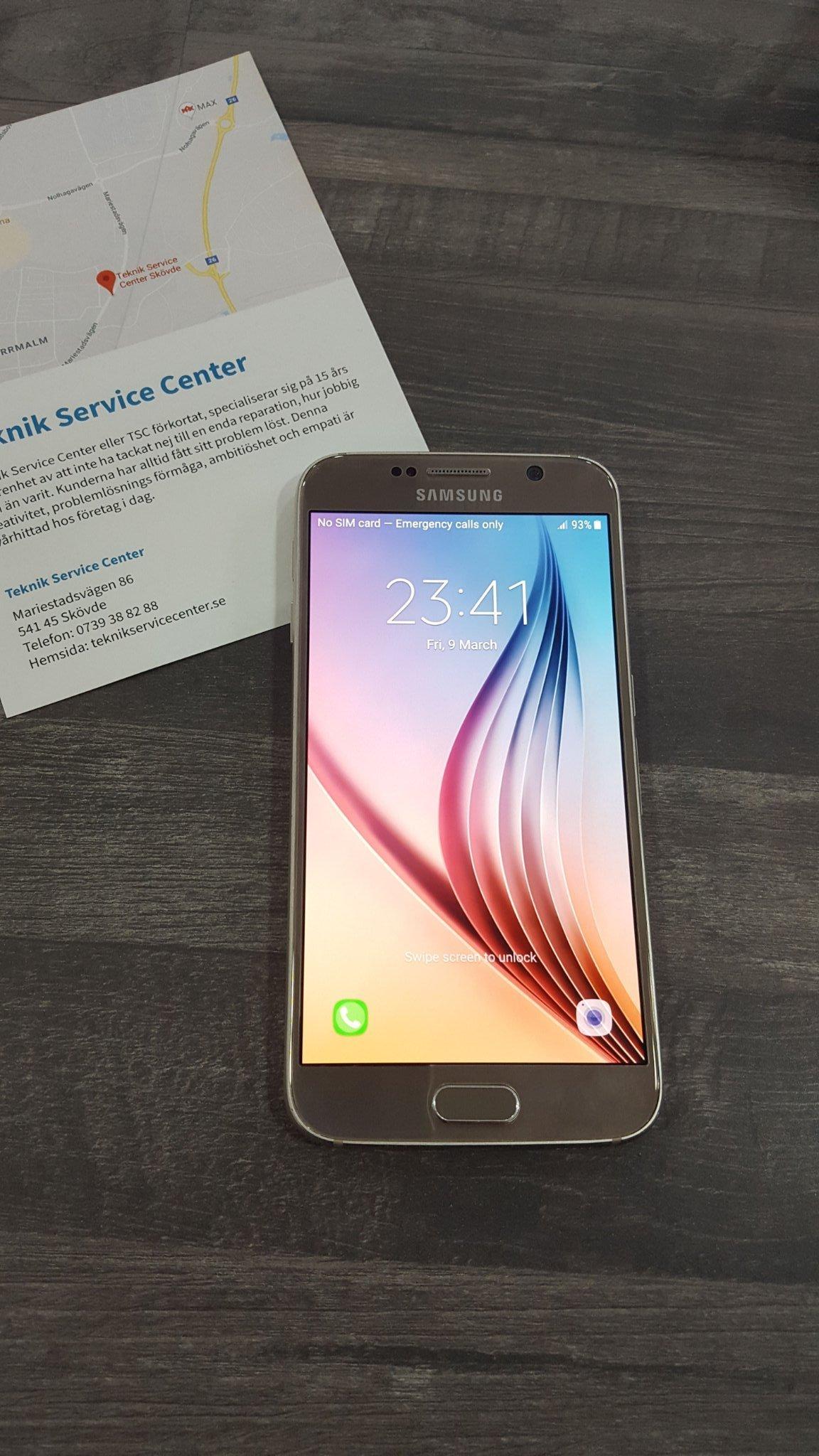 Samsung Galaxy S6 32 gb olåst 1 Års garanti