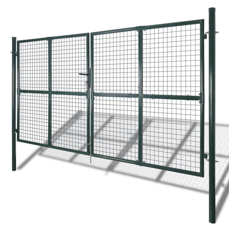 vidaXL Nätad stängselgrind 289 x 175 cm / 306 x 225 cm