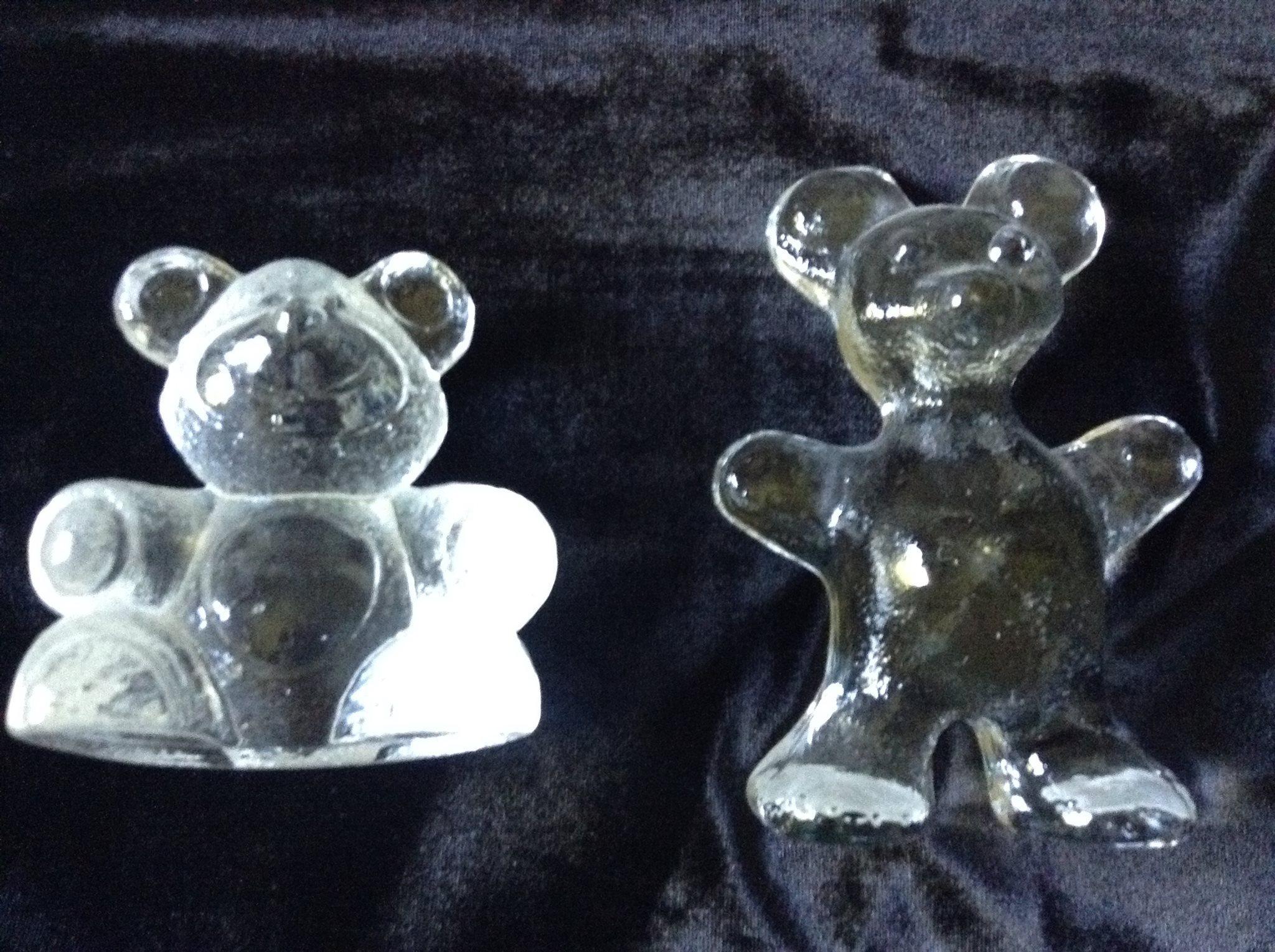 2 st Nalle i glas Glasfigur Björn (350864659) u1408 Köp på Tradera