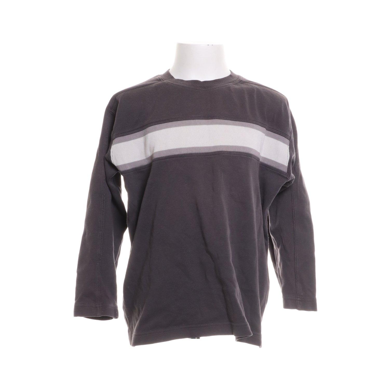 Kaxs By Kappahl, Långärmad T shirt, Strl: 122, GråVit, Bomull