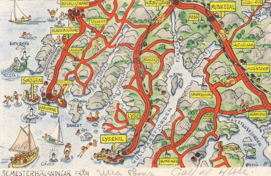 kart over lysekil Bertil A: Kart Kort nr 17 DINGLE LYSEKIL på Tradera.  Signerade kart over lysekil