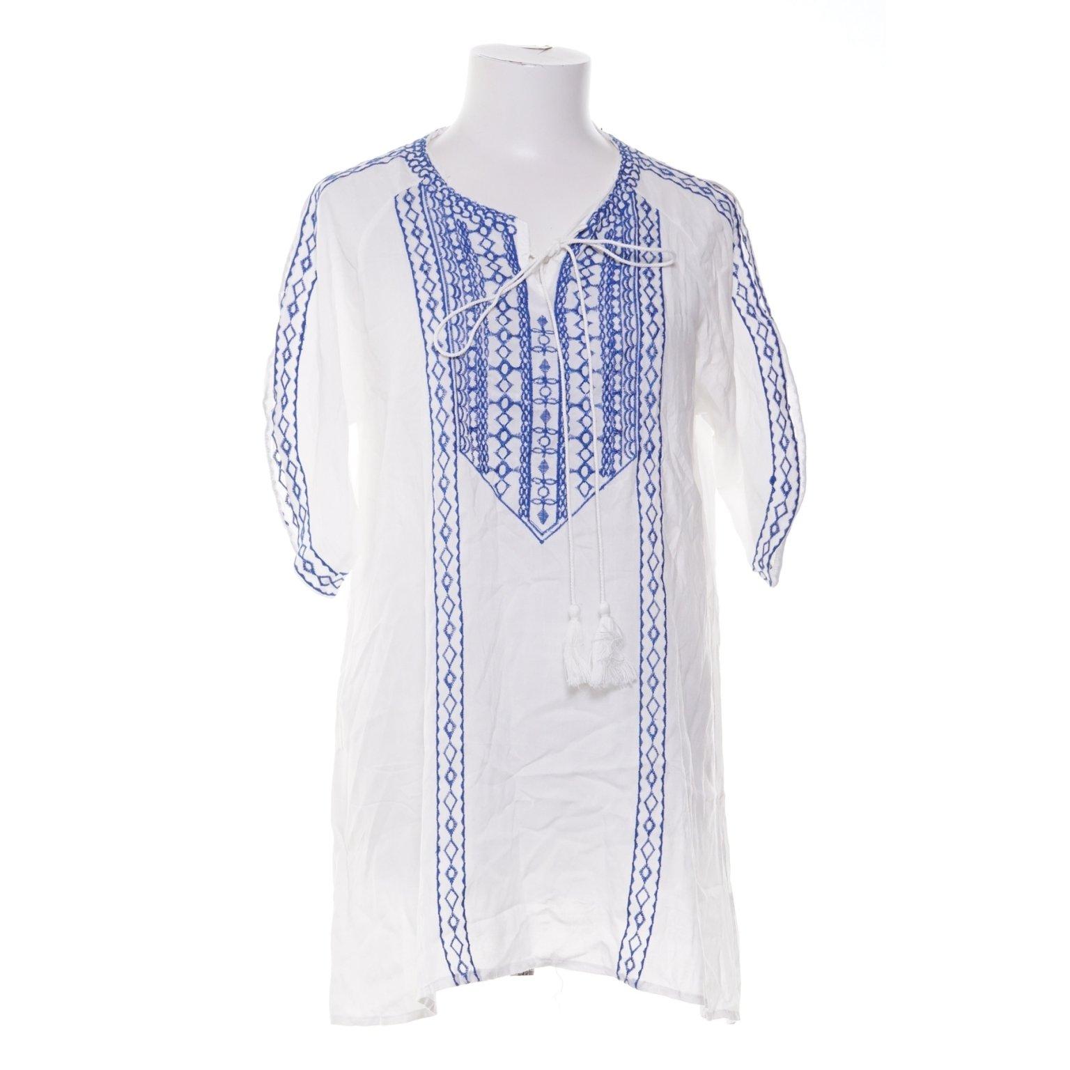 blå vit tunika