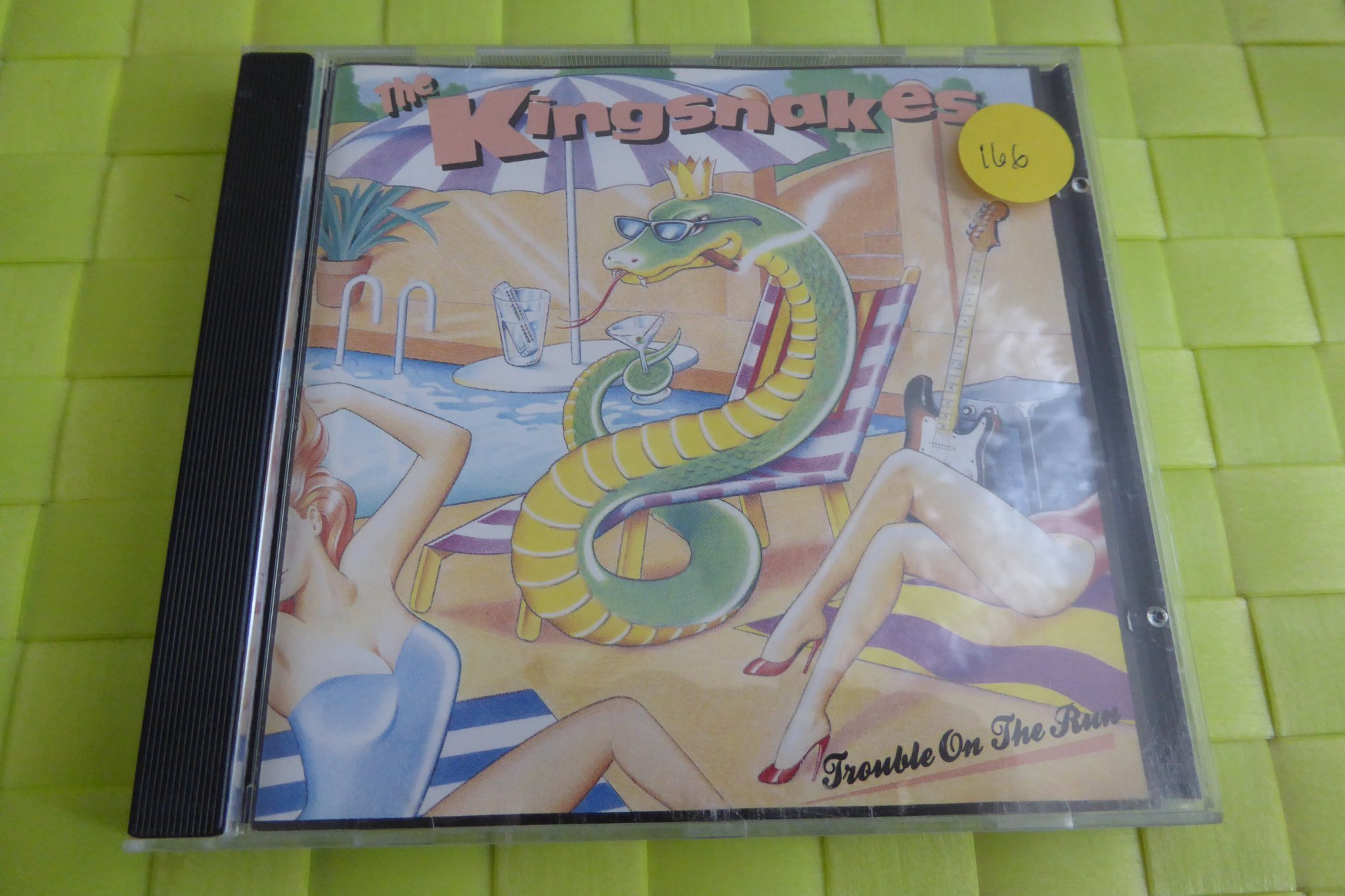 THE KINGSNAKES - CD - TROUBLE ON THE RUN - BLUES 1990!!!