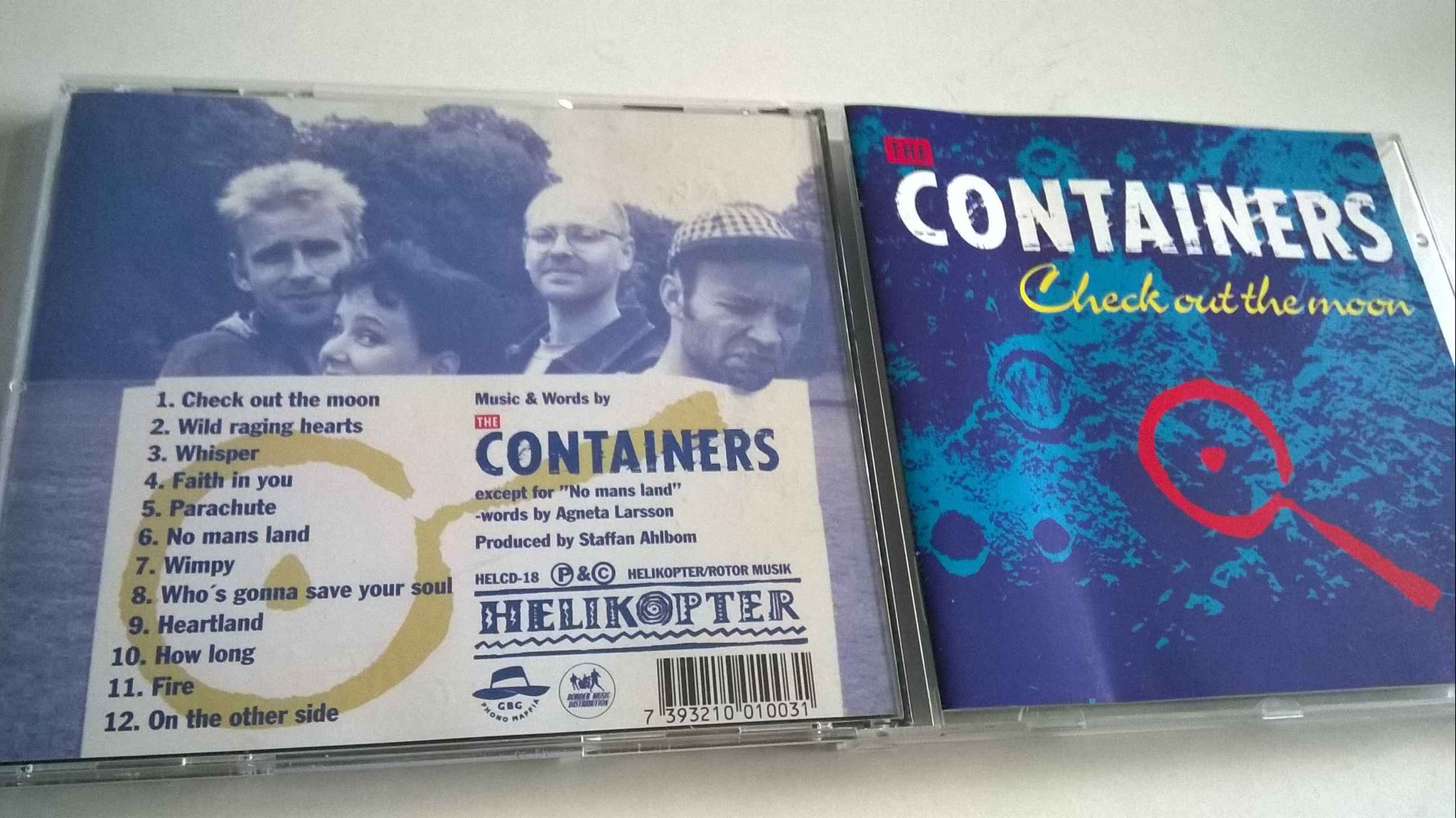 The Containers - Check out the moon, CD, rare!