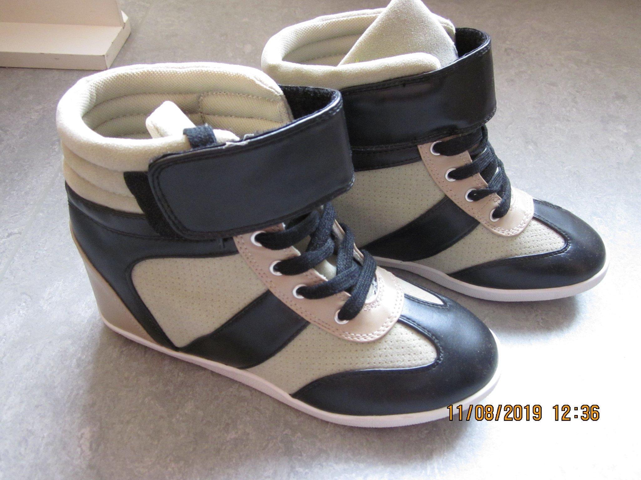 sneakers kilklack svart