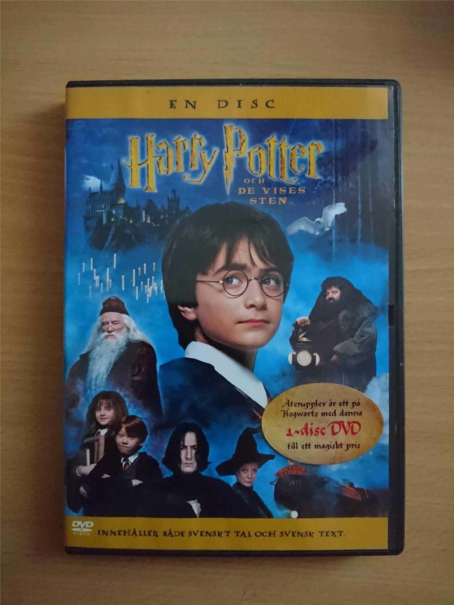 harry potter og de vises sten dvd