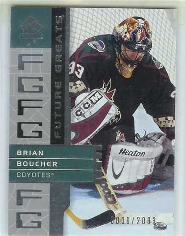 MÅLVAKTSINSERT    BRIAN BOUCHER      FUTURE GREATS 0030/2003