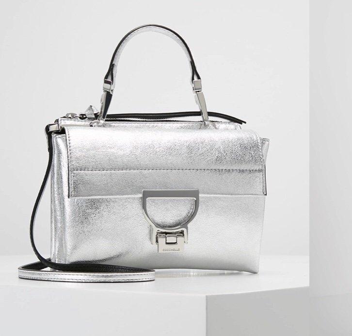 Coccinelle handväska silver crossbody läder