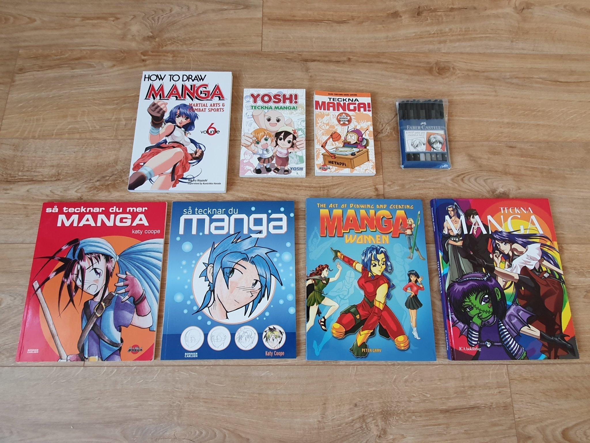teckna manga pennor