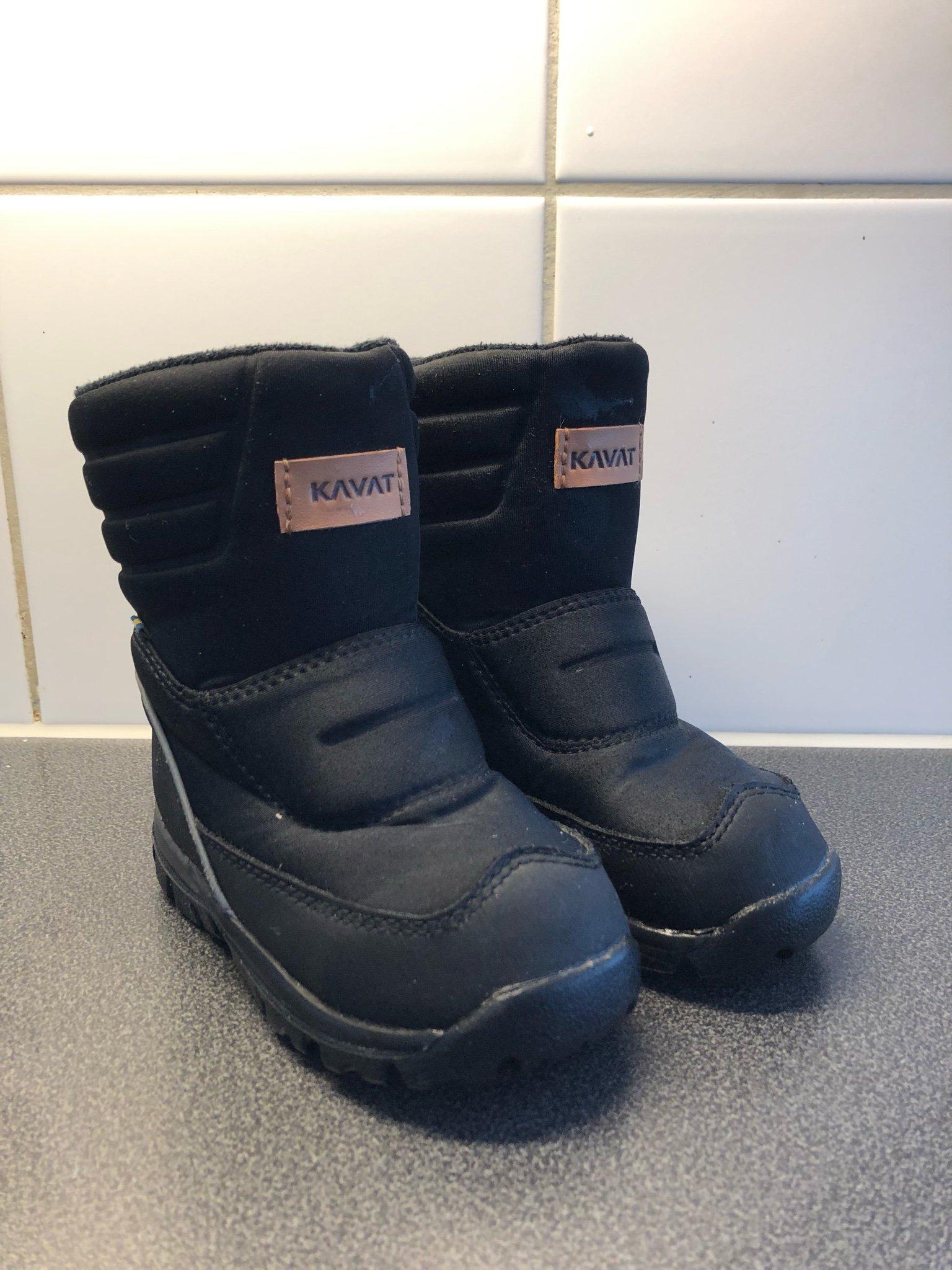 fd3bfcf5d08 Kavat Voxna WP Black Barn fodrade skor storlek 24 (349246215) ᐈ Köp ...