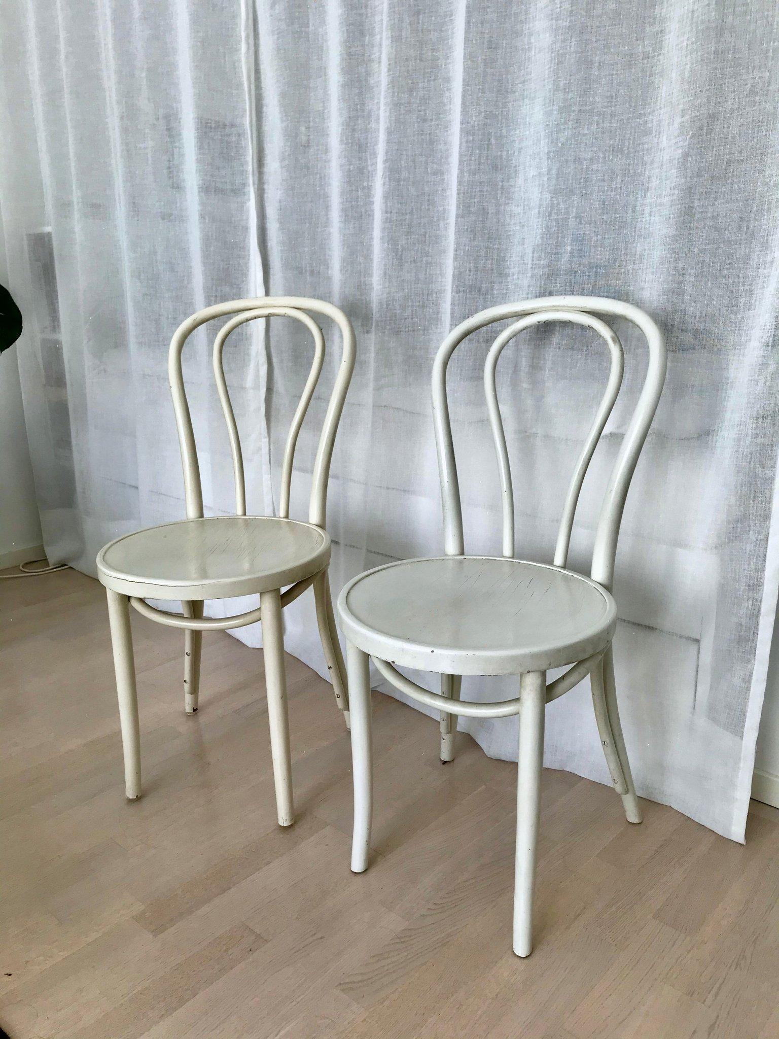 2 st Vintage stolar Öglan i trä 60 tal Gillis Lundgren IKEA trästolar