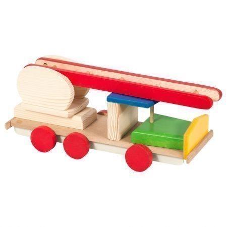 Trä eldmaskin, brandbil, maskin, gåva för pojkar, leksak verktyg fordon