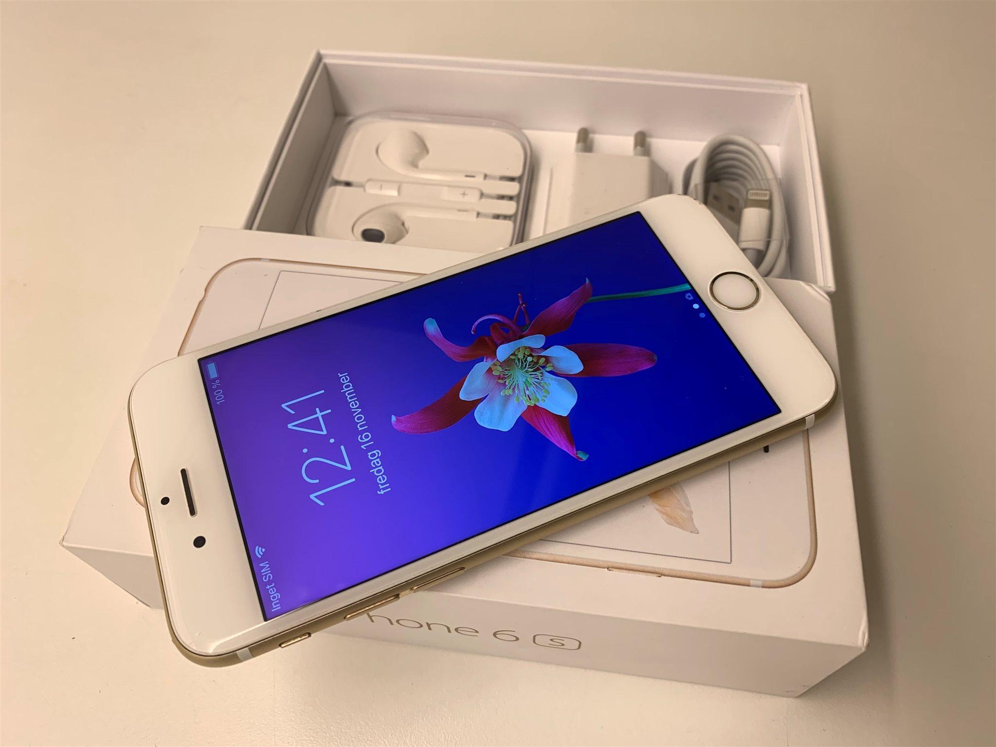 Apple iPhone 6s Gold 64GB STORT MINNE Originallåda Nya tillbehör   OLÅST   6f6feeeba3503