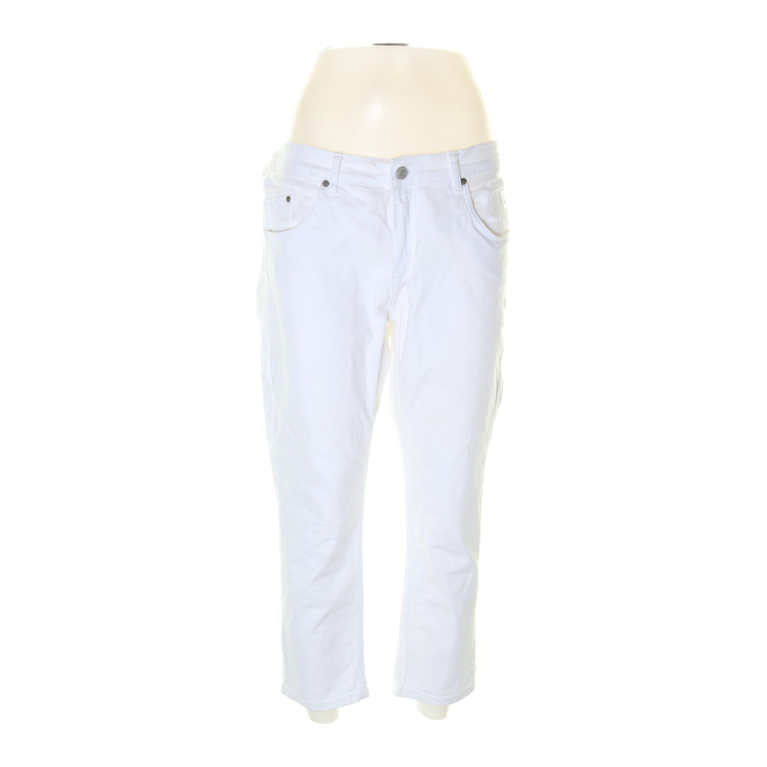 365 Three-sixty-five, Jeans, Strl: 42, Anna Cropped Twill Off White, Vit