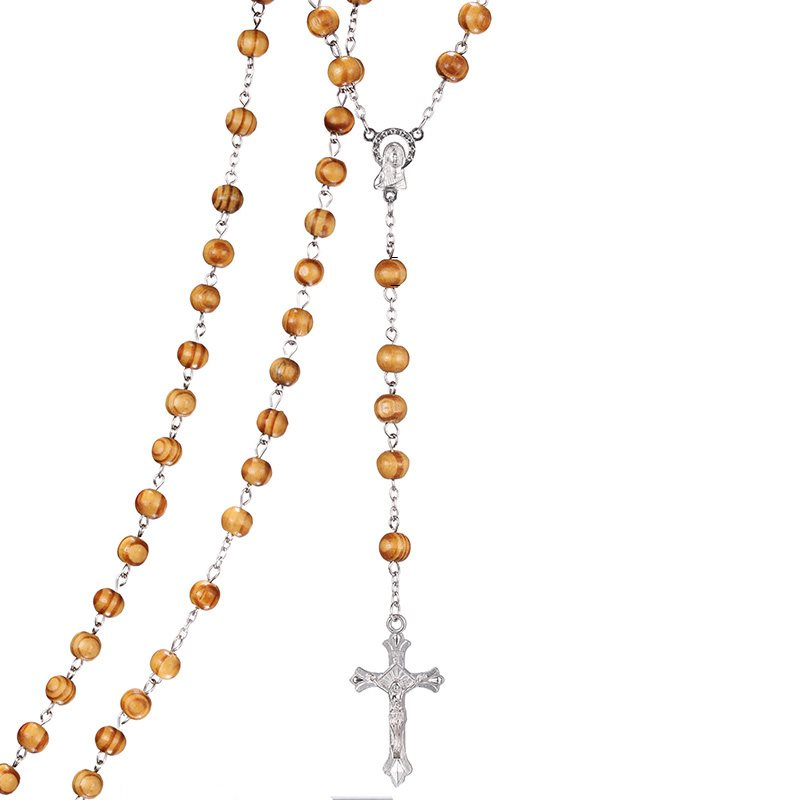 kors halsband i trä