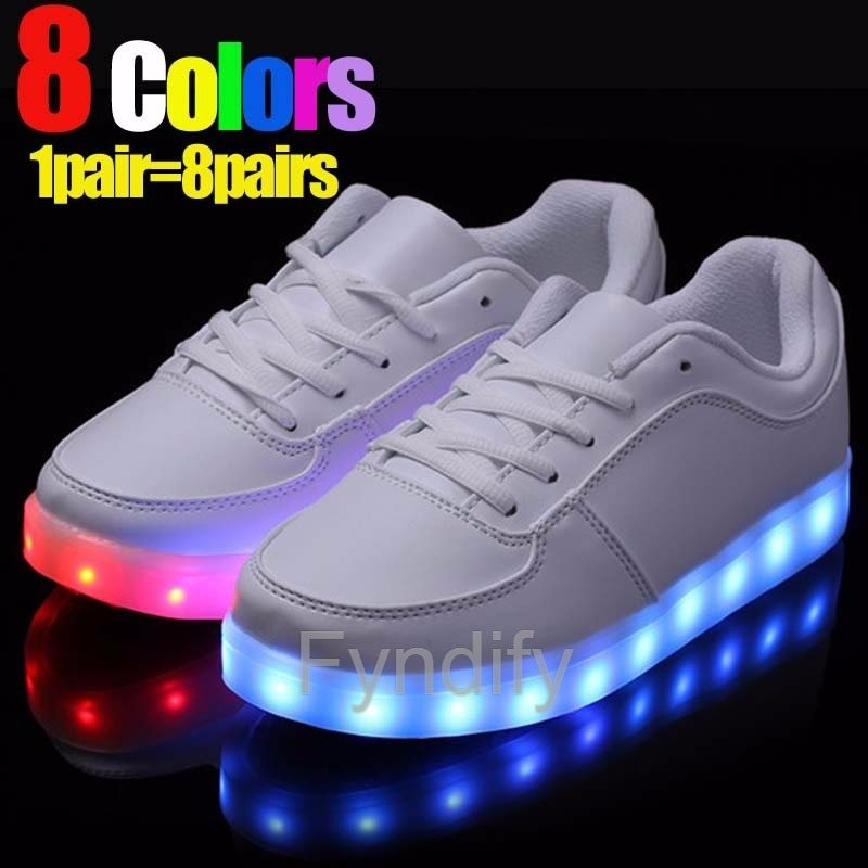 84e542478374 LED-Sneakers Unisex Vit 46 (277155322) ᐈ Fyndify på Tradera