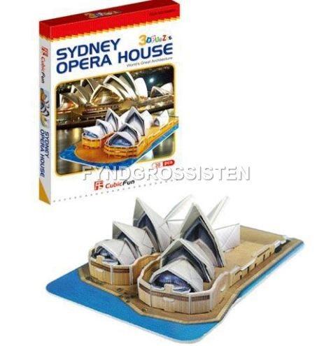 3D Pussel Sydney Opera House Jigsaw Fri Frakt Ny