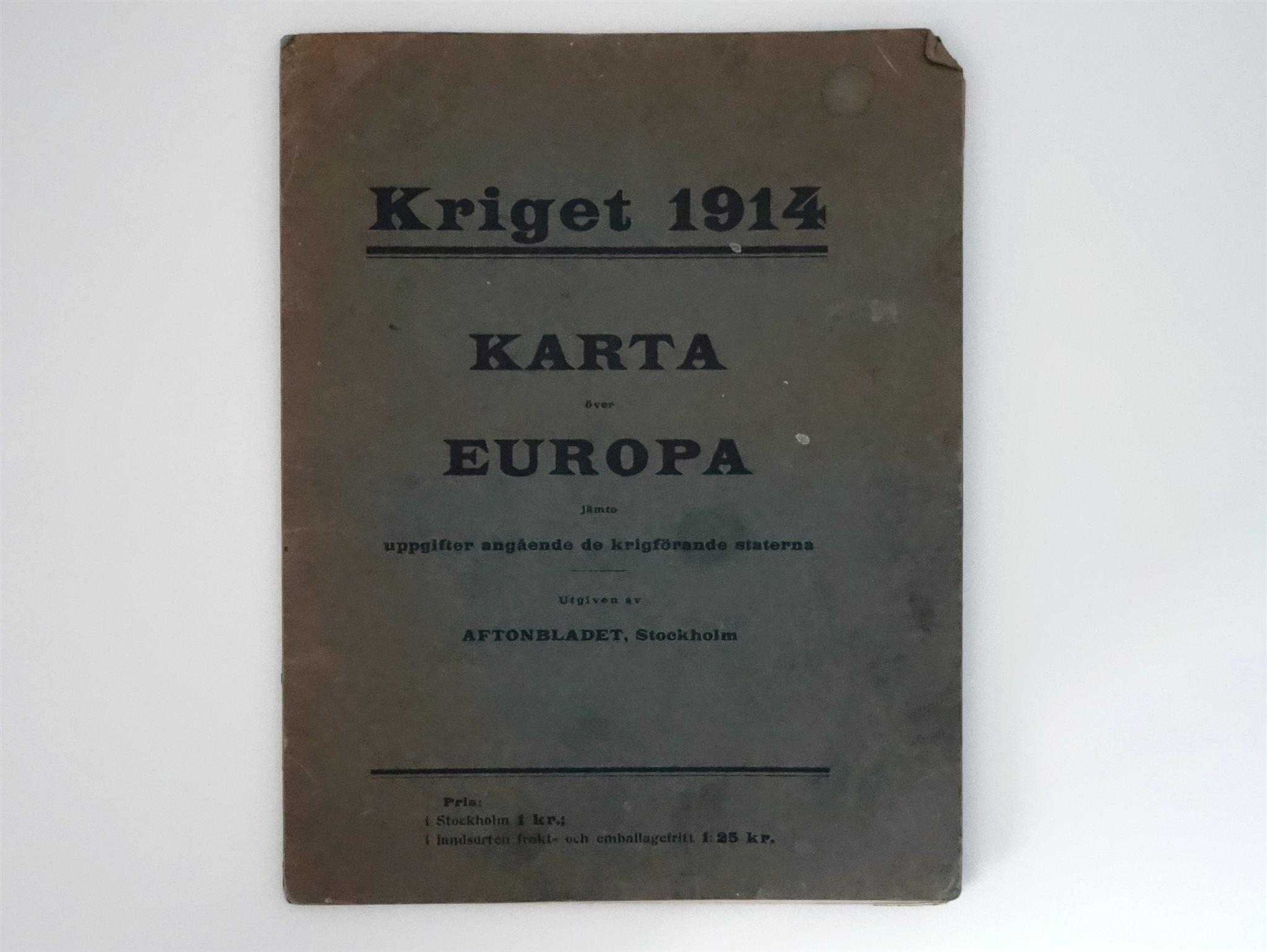 Karta Europa Andra Varldskriget.Karta Kriget 1914 Forsta Varldskriget 338819552 ᐈ Kop Pa Tradera
