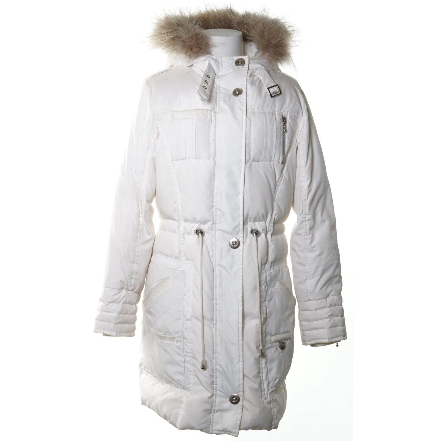 jacka med vit päls