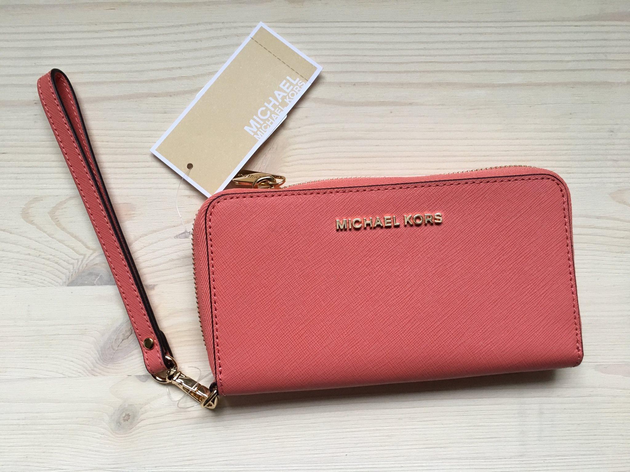 michael kors plånbok med mobilfack