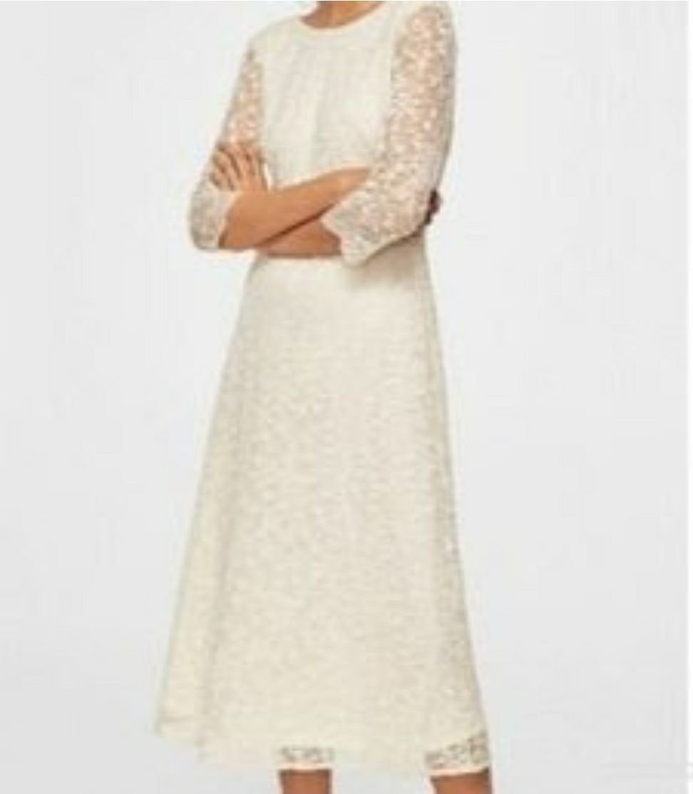 Cremevit klänning studentbröllopbrudcoctail (408247556