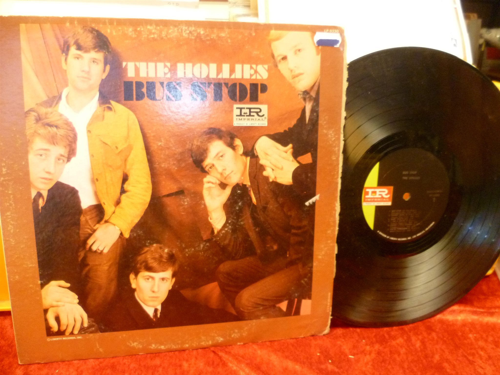 THE HOLLIES , LP , BUS STOP , Made in US