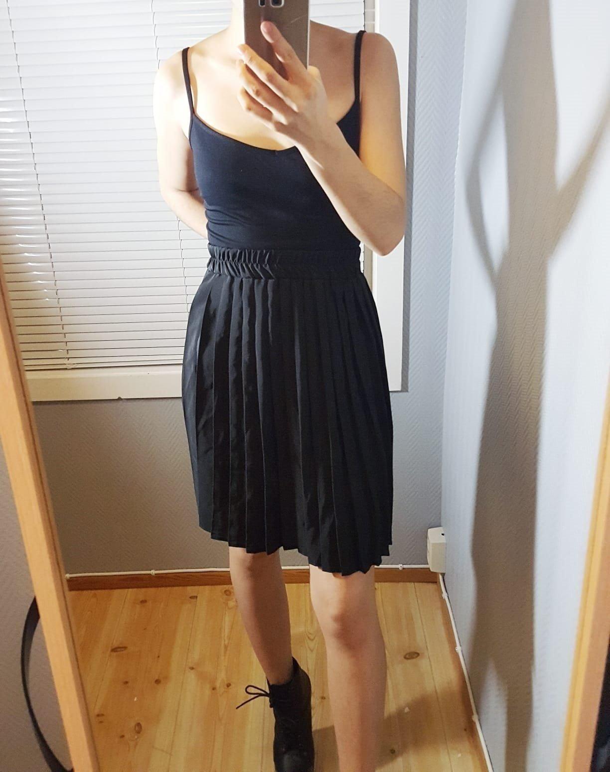 f8674357612d Vintage 50-tal stuk räfflad kjol retro (345671529) ᐈ Köp på Tradera