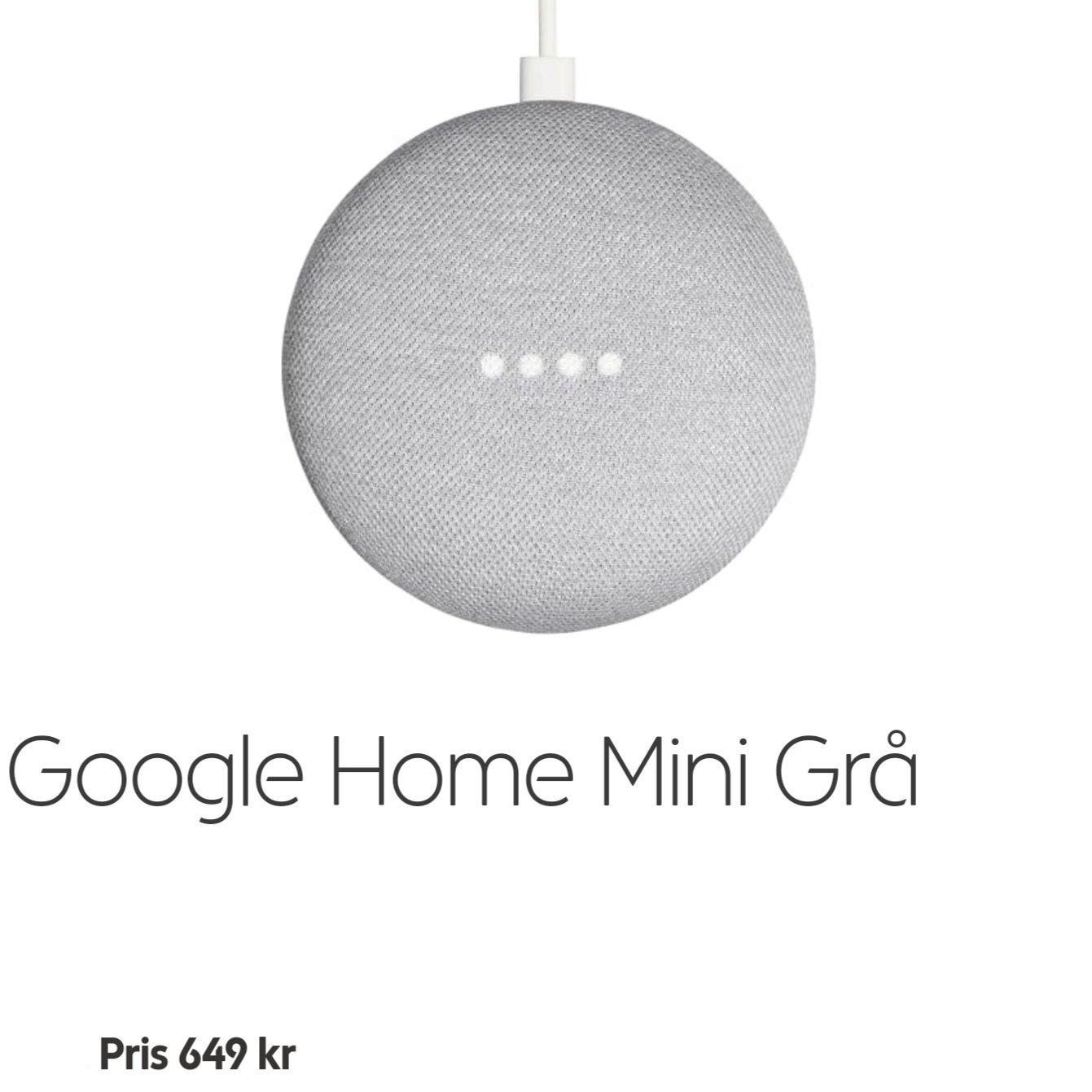 Google Home Mini NY med 1år garanti
