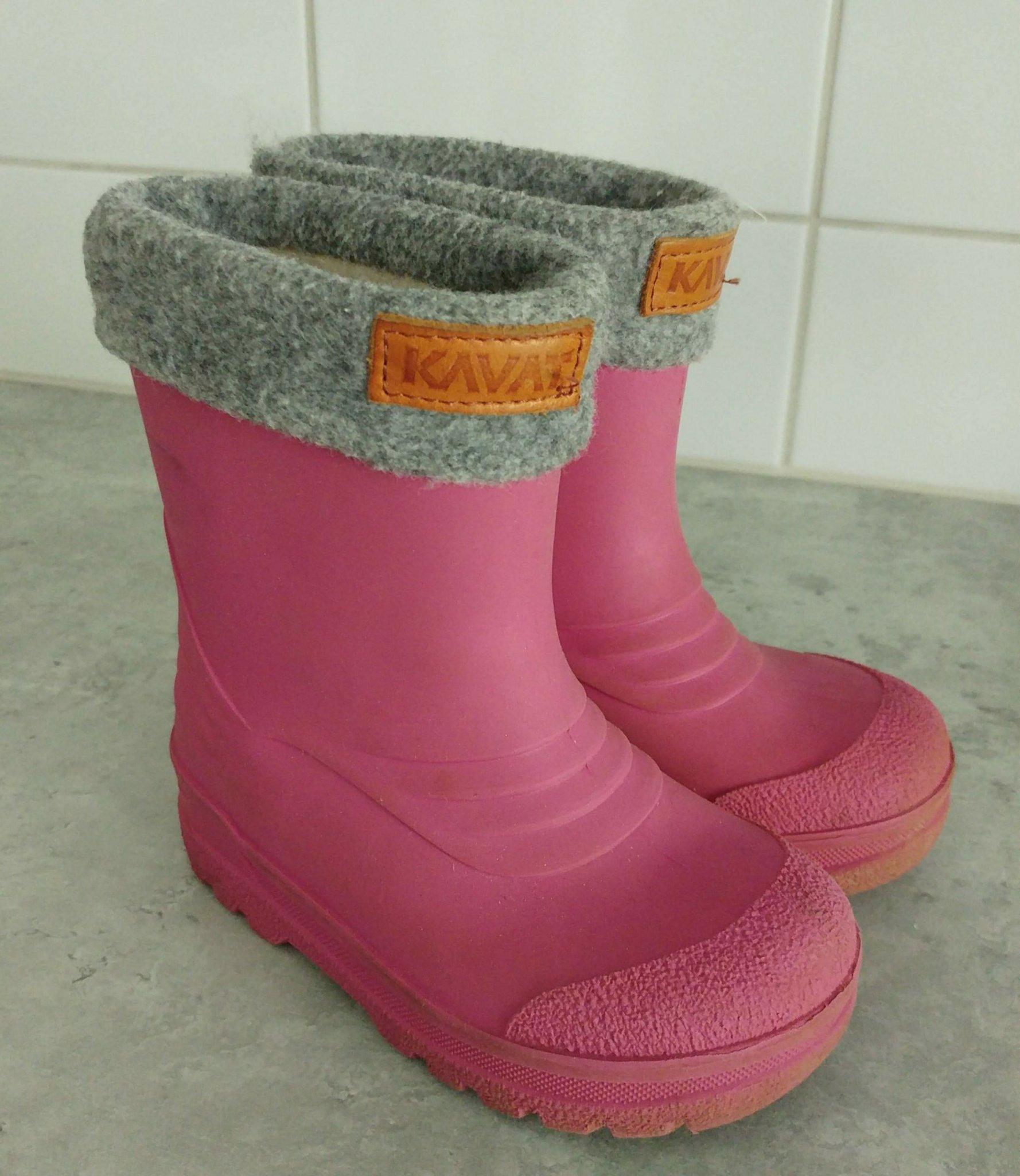 Rosa Kavat Gimo ullfodrade stövlar, ull, vinterstövlar! Storlek 24 (14,7 cm)