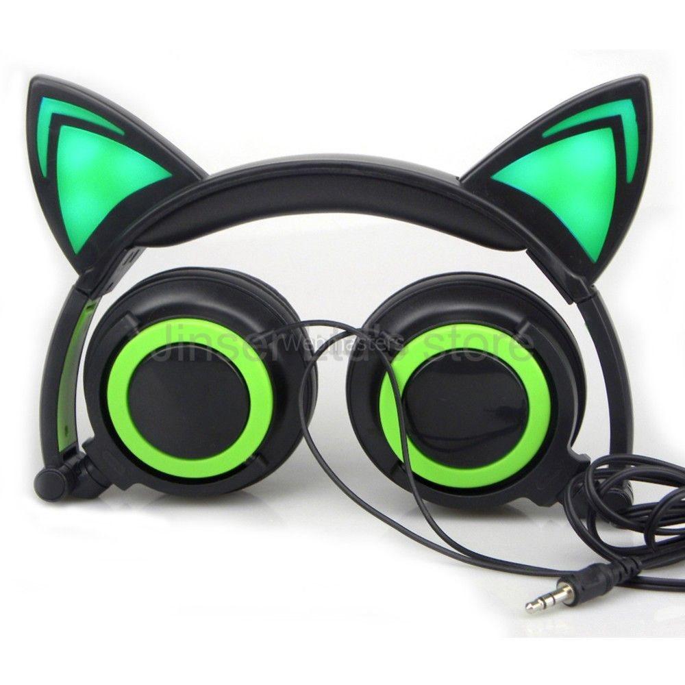 Hörlurar Over-Ear 3.5mm Katt - Grön (275078449) ᐈ Webmasters på Tradera e18ece289ddfd