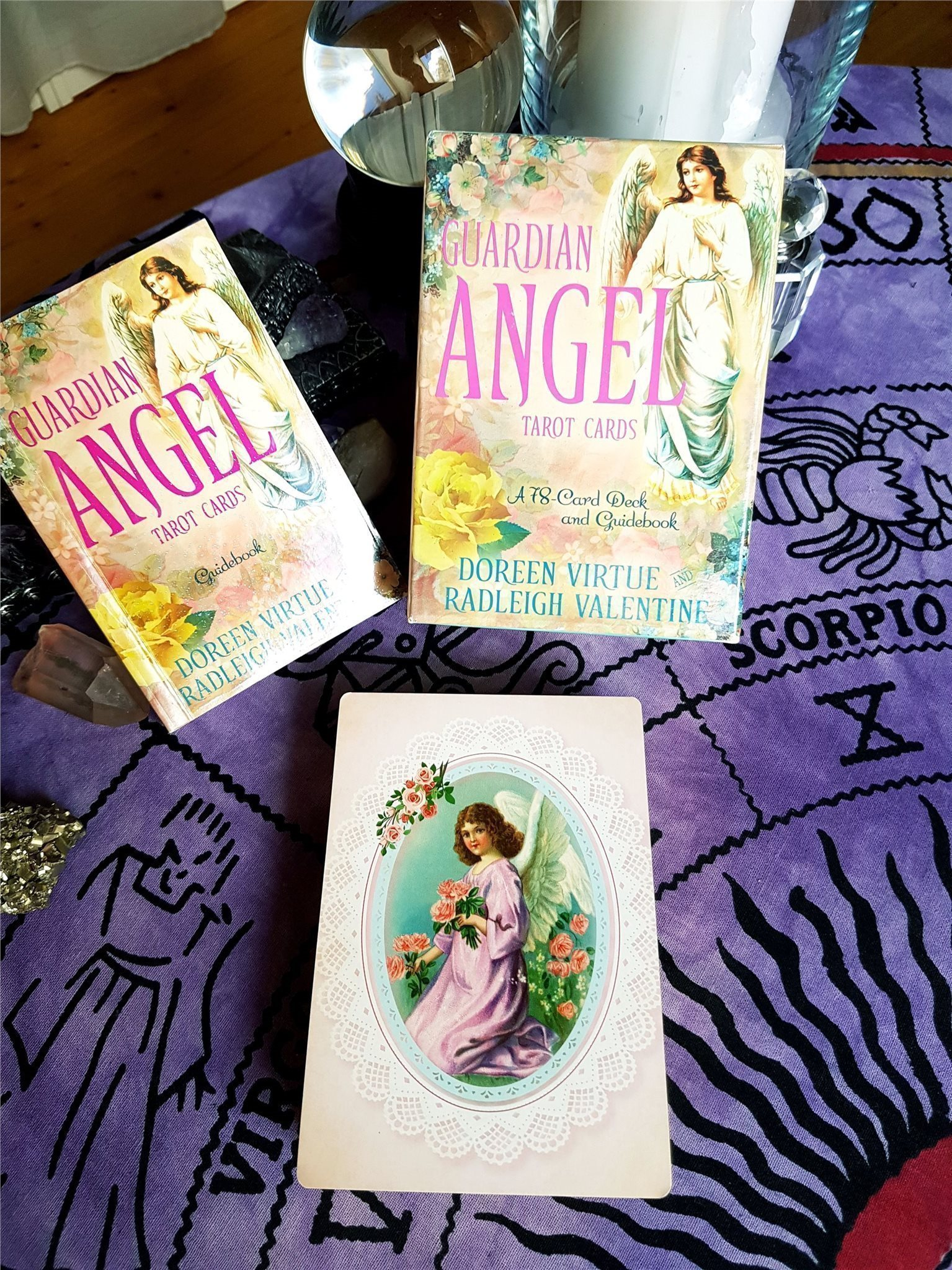 NY INPLASTAD - Guardian Angel Tarot Cards av Doreen Virtue - Oracle New Age.