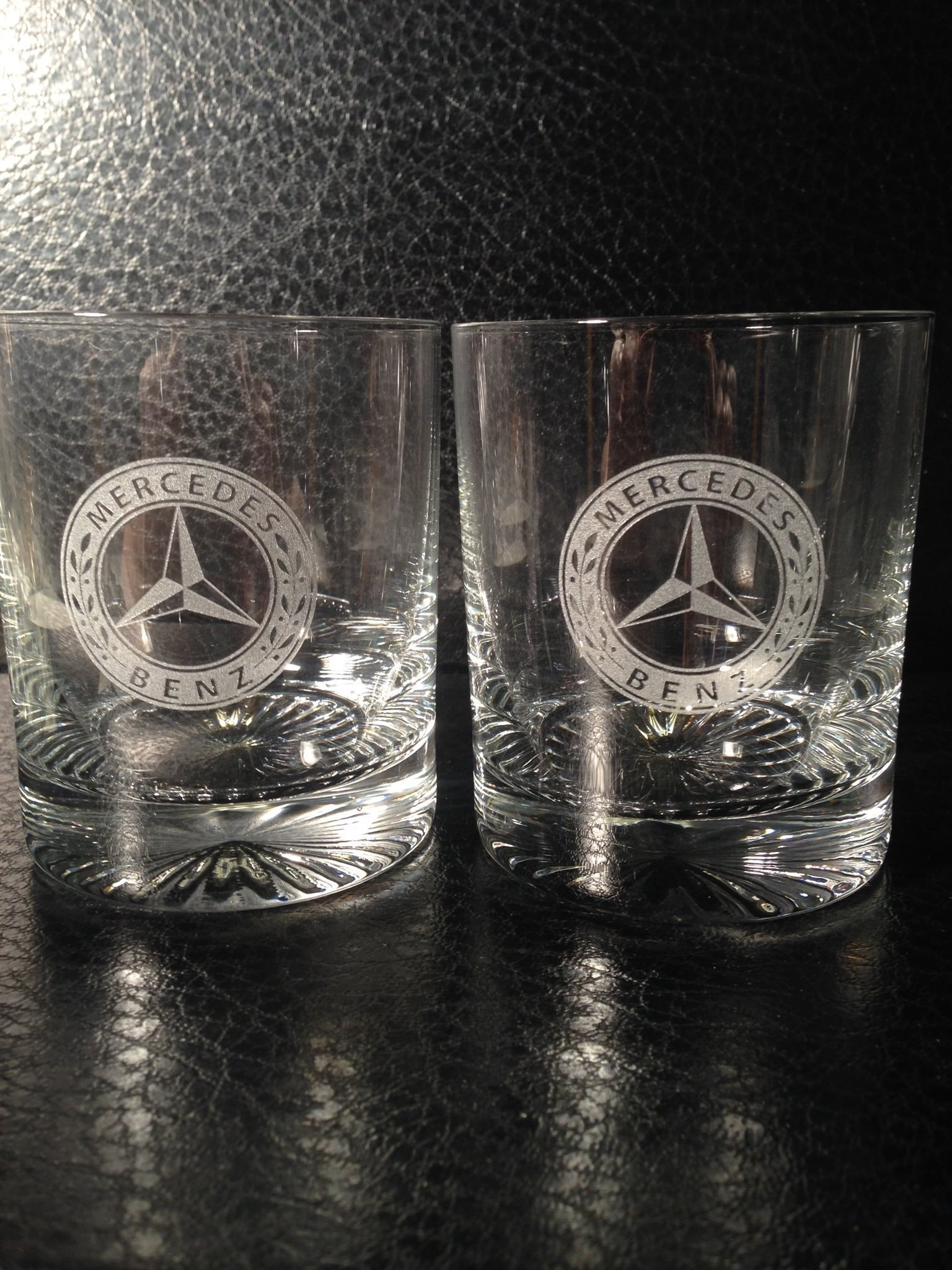 Mercedes Benz Whiskeyglas 2st Nya!