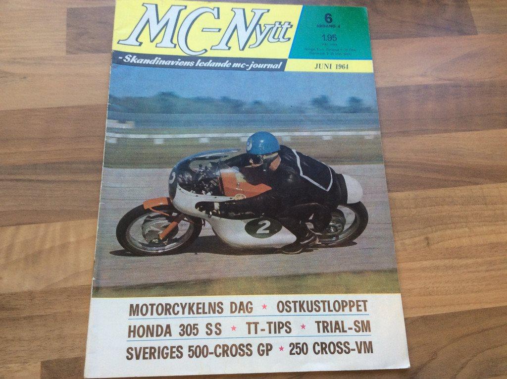 Mc-Nytt Juni 1964 Honda 305,motocross GP,VM Tra   (287083408) ᐈ Köp