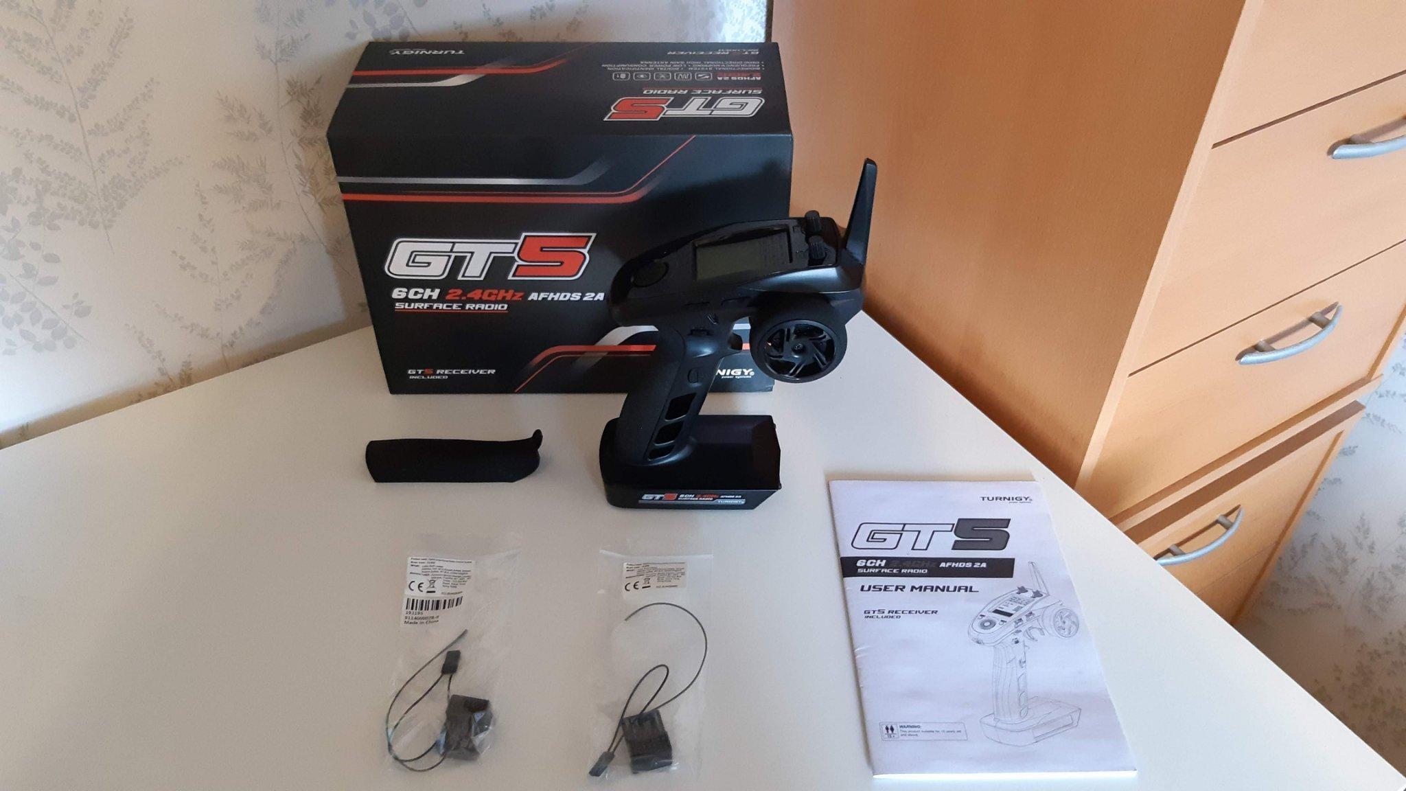 Rattradio Turnigy / Flysky GT5 6-Kanals radio m   (348080606) ᐈ Köp