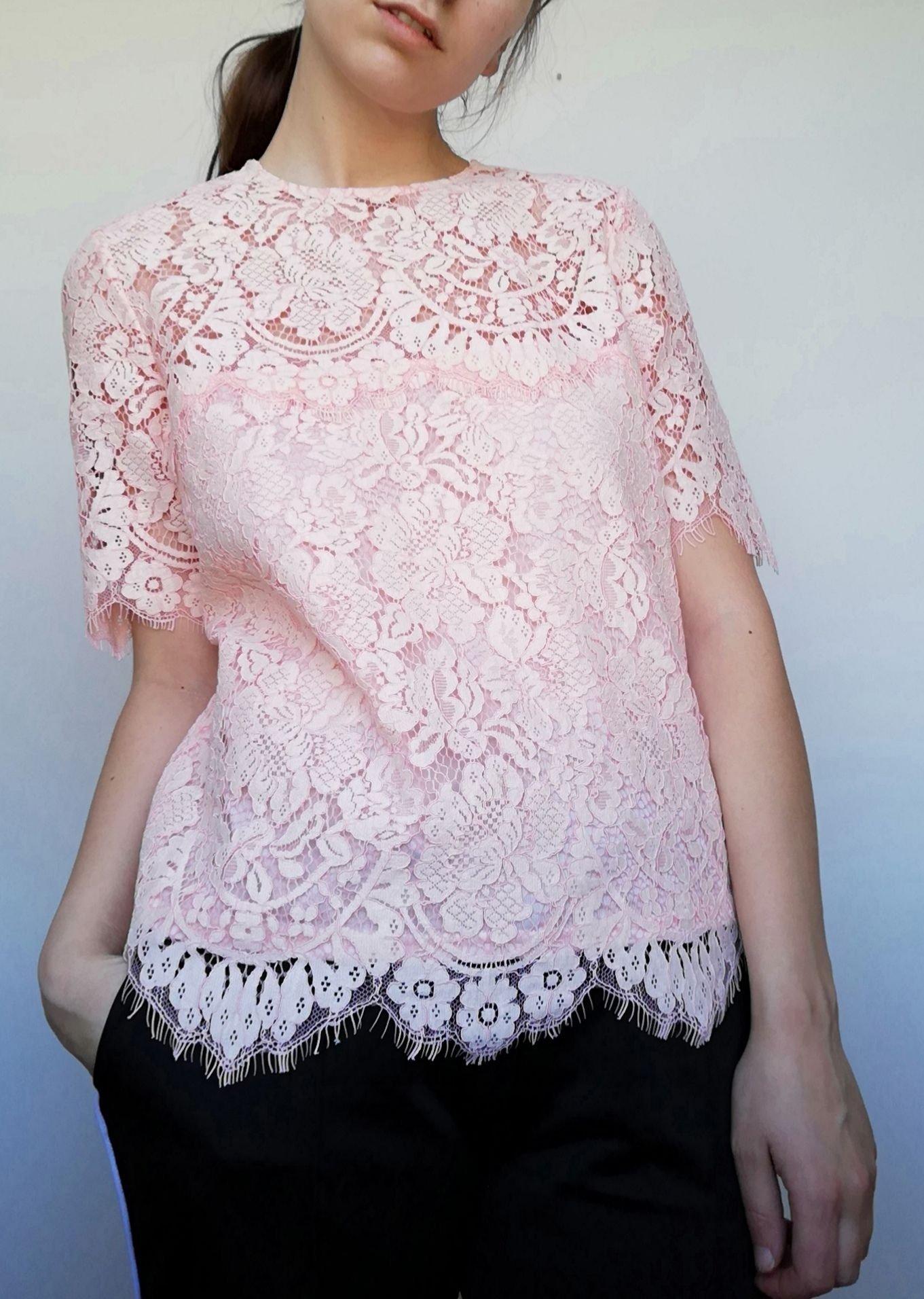 2ad66584 Ganni Duval Lace Top stl M rosa cloud pink spet.. (349934705) ᐈ Köp ...
