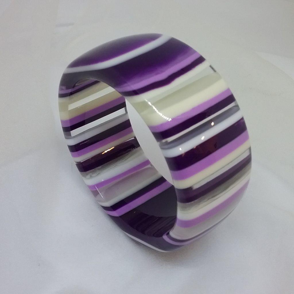 Retro armband plast brett randigt .. (309454178) ᐈ vintagecorner på ... 5aaf56f747a93